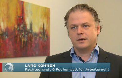Fachanwalt Lars Kohnen im TV-Bericht von RTL Aktuell