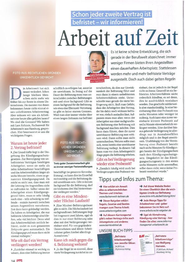 """""""Arbeit auf Zeit"""" - Fachanwalt Lars Kohnen"""