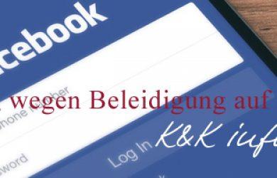 Kündigung Beleidigung auf Facebook